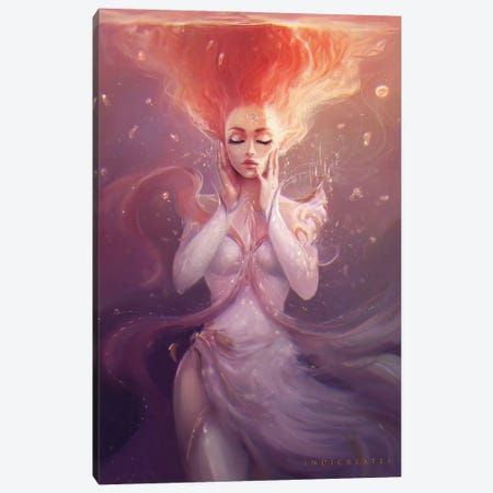 Cassandra - Healing Canvas Print #IDC6} by indicreates Canvas Art Print