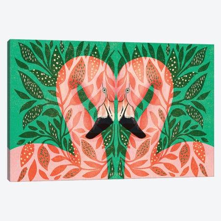 Flamingos Canvas Print #IDM10} by Indi Maverick Canvas Print