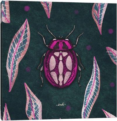 Bug III Square Canvas Art Print