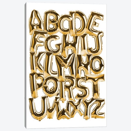 Foil Alphabet Gold Canvas Print #IDR110} by Ink & Drop Canvas Print