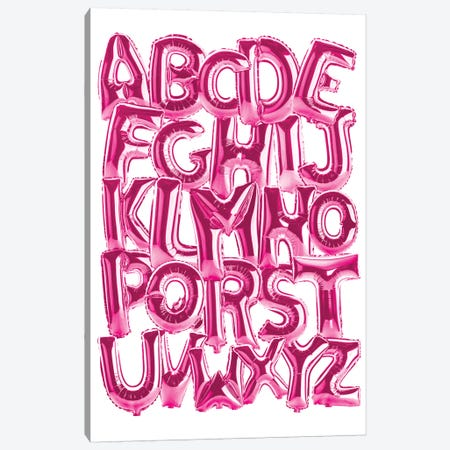 Foil Alphabet Pink Canvas Print #IDR111} by Ink & Drop Canvas Print