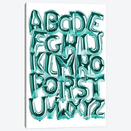 Foil Alphabet Teal Canvas Print #IDR112} by Ink & Drop Canvas Art Print