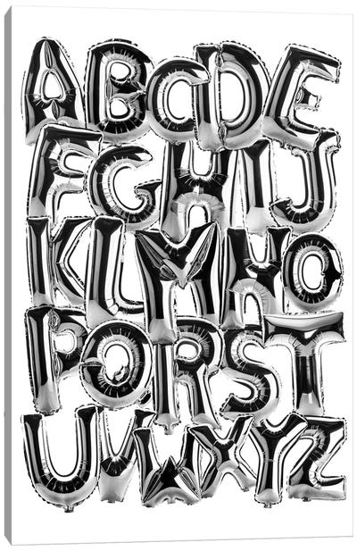 Foil Alphabet Canvas Art Print