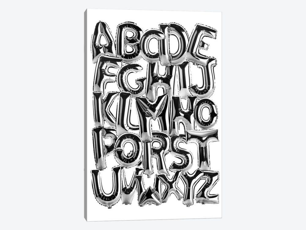 Foil Alphabet by Ink & Drop 1-piece Canvas Print