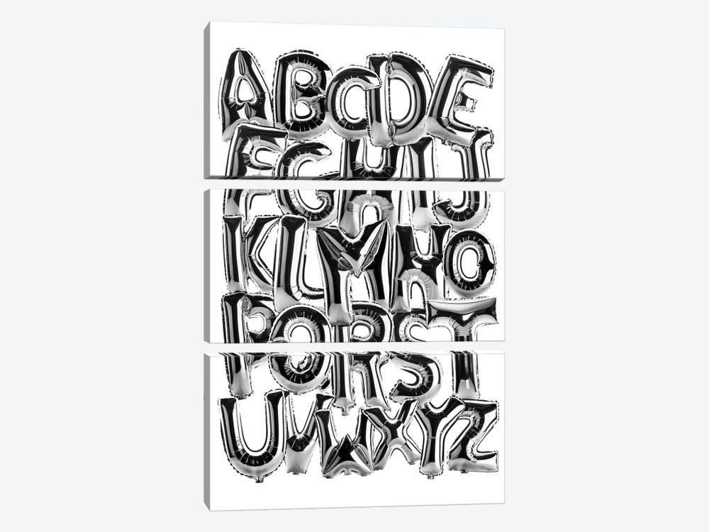 Foil Alphabet by Ink & Drop 3-piece Canvas Art Print