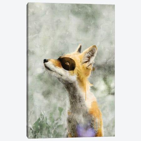 Super Fox Canvas Print #IDR117} by Ink & Drop Canvas Wall Art