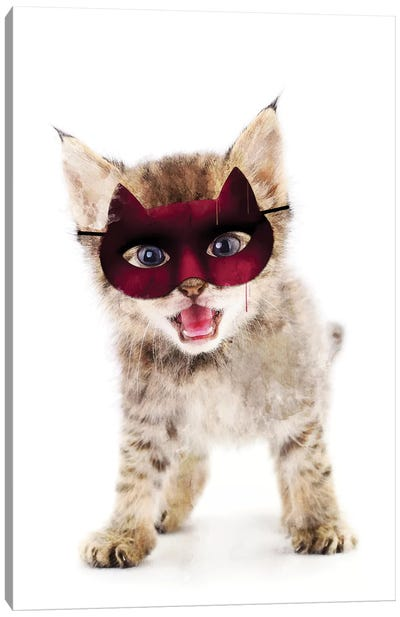 Super Kitten Canvas Art Print