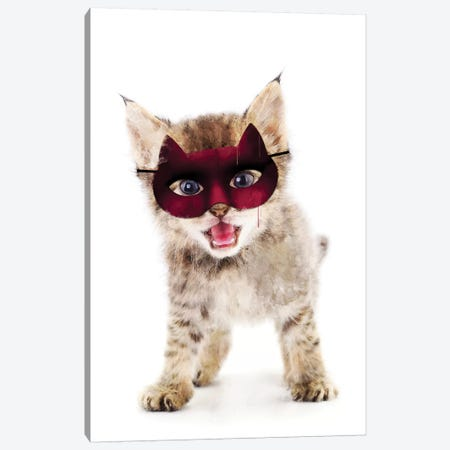 Super Kitten Canvas Print #IDR118} by Ink & Drop Canvas Print