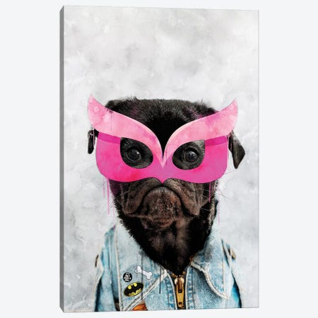 Super Pug Canvas Print #IDR121} by Ink & Drop Canvas Artwork