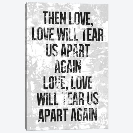Love Will Tear Us Apart Canvas Print #IDR14} by Ink & Drop Canvas Art Print