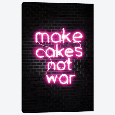Make Cakes Pink Canvas Print #IDR15} by Ink & Drop Canvas Print