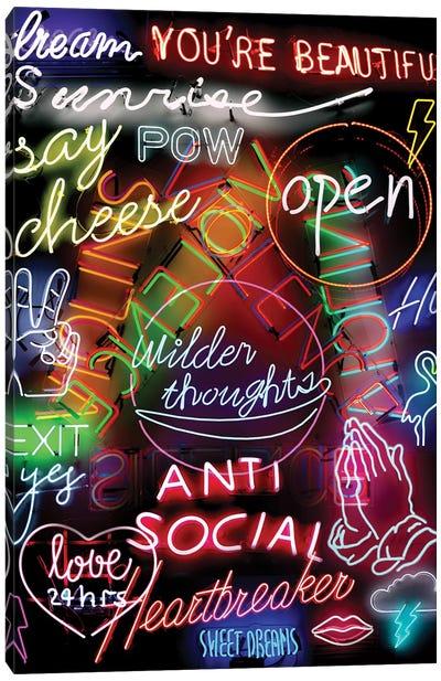 Neon Mashup Canvas Art Print