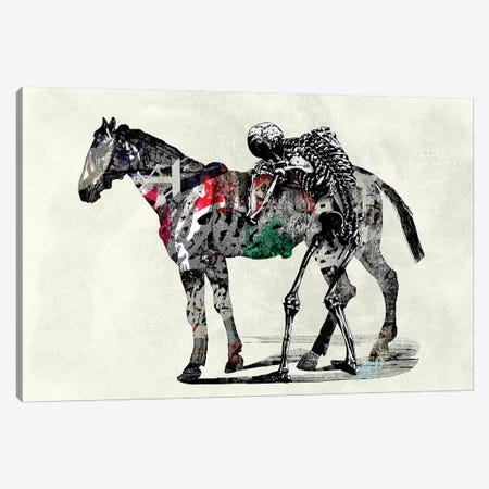 Skeleton Horse Canvas Print #IDR22} by Ink & Drop Canvas Print