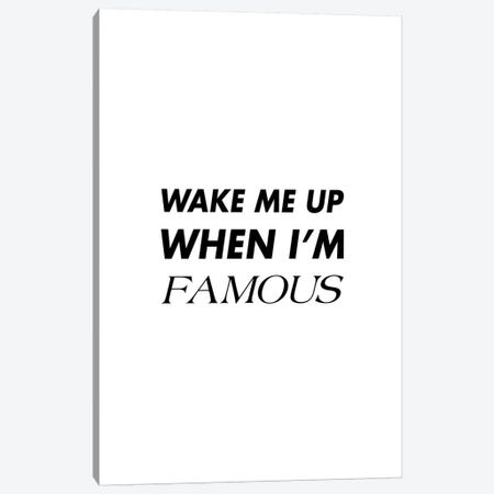 Wakemeup Famous Canvas Print #IDR25} by Ink & Drop Canvas Art