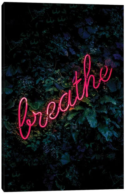 Breathe Neon Canvas Art Print