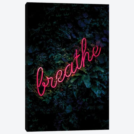 Breathe Neon Canvas Print #IDR2} by Ink & Drop Canvas Wall Art