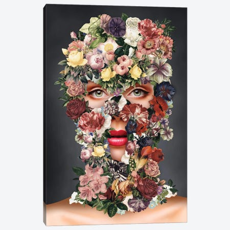 Flowerclava Canvas Print #IDR33} by Ink & Drop Canvas Art