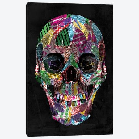 Geometric Pattern Skull Canvas Print #IDR35} by Ink & Drop Canvas Art Print