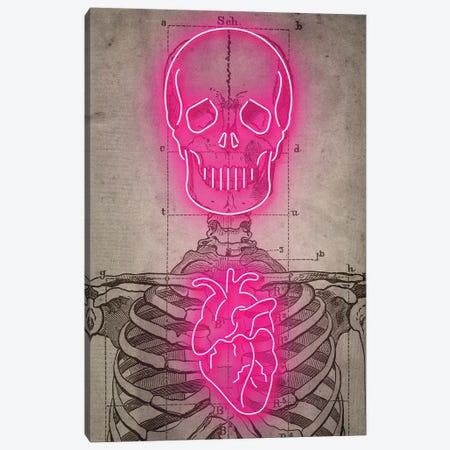 Neon Skull Diagram Canvas Print #IDR49} by Ink & Drop Canvas Art Print