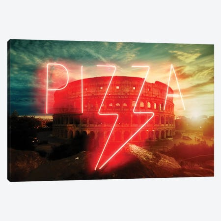 Pizza Canvas Print #IDR54} by Ink & Drop Art Print