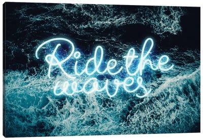 Ridewaves Neon Canvas Art Print