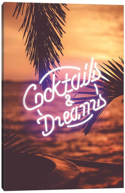 Cocktails And Dreams I Canvas Art Print