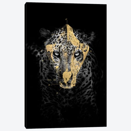 Gold Leopard Canvas Print #IDR66} by Ink & Drop Canvas Artwork