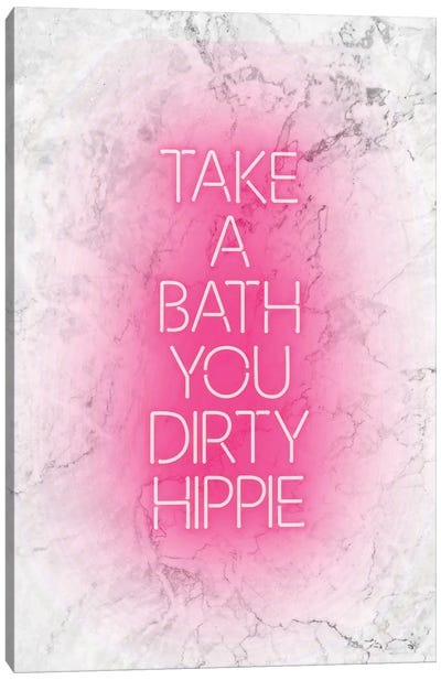 Take A Bath White Canvas Art Print