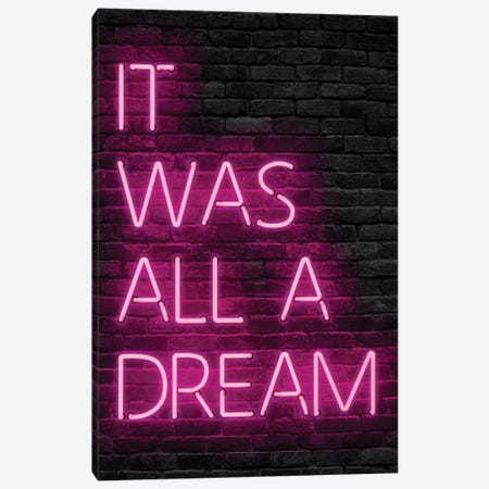 Pink All Dream Canvas Print #IDR75} by Ink & Drop Canvas Art Print