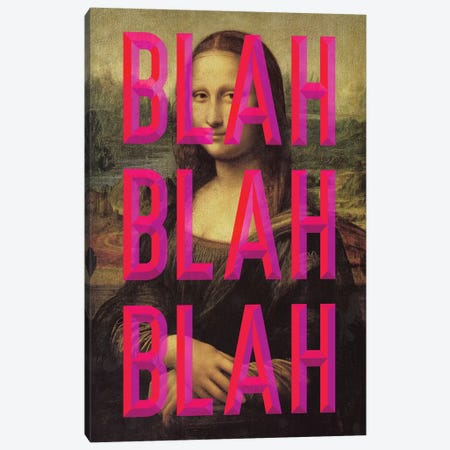 Pink Mona Lisa Canvas Print #IDR77} by Ink & Drop Canvas Art Print