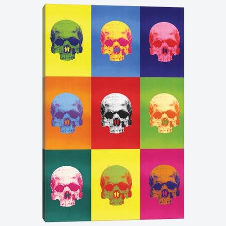 Popart Skulls Canvas Print #IDR82} by Ink & Drop Canvas Art Print