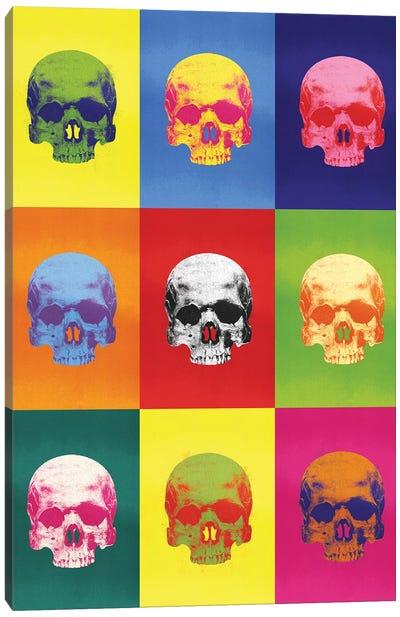 Popart Skulls Canvas Art Print
