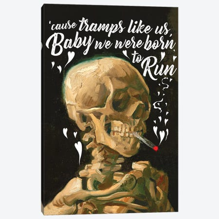 Tramps Skeleton Canvas Print #IDR87} by Ink & Drop Canvas Wall Art