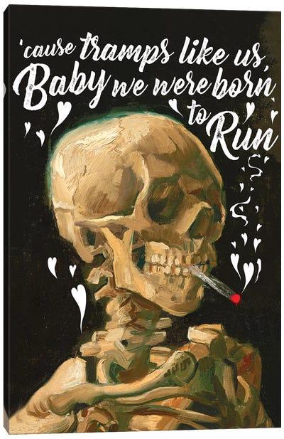 Tramps Skeleton Canvas Art Print