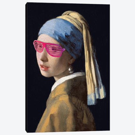 Shutter Shades Pink Canvas Print #IDR93} by Ink & Drop Canvas Art
