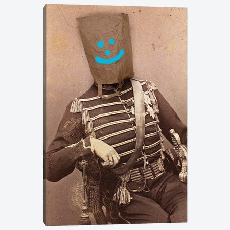 Smiley Soldier Canvas Print #IDR94} by Ink & Drop Canvas Art Print