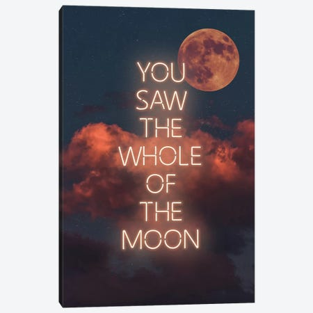 Whole Moon Canvas Print #IDR97} by Ink & Drop Art Print