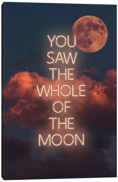 Whole Moon Canvas Art Print