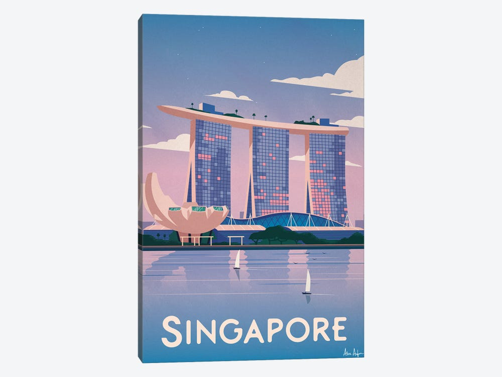 Singapore by IdeaStorm Studios 1-piece Canvas Art Print