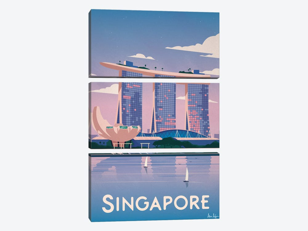Singapore by IdeaStorm Studios 3-piece Canvas Print