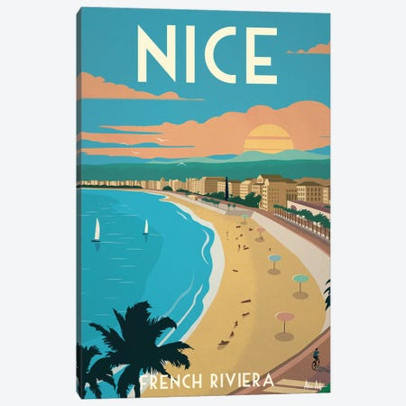 Nice Poster Canvas Print #IDS104} by IdeaStorm Studios Canvas Wall Art