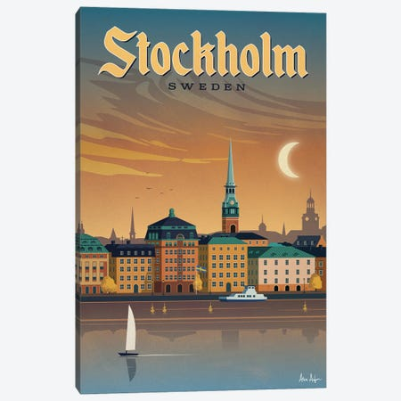 Stockholm Canvas Print #IDS105} by IdeaStorm Studios Canvas Wall Art