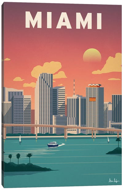 Miami Downtown Canvas Art Print