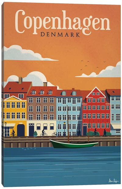 Copenhagen Canvas Art Print
