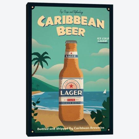 Caribbean Beer Canvas Print #IDS113} by IdeaStorm Studios Canvas Art