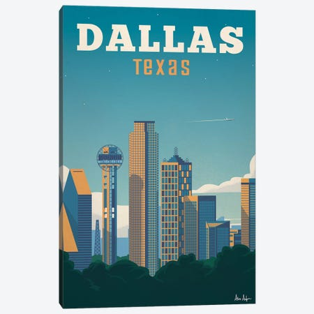 Dallas Canvas Print #IDS11} by IdeaStorm Studios Canvas Art Print