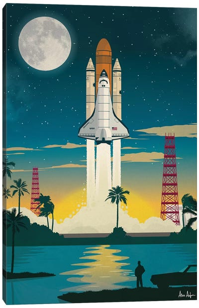 Discovery Launch Canvas Art Print