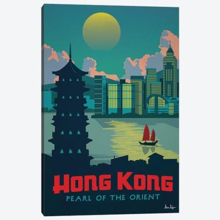 Hong Kong Canvas Print #IDS15} by IdeaStorm Studios Canvas Wall Art