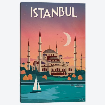 Istanbul Canvas Print #IDS16} by IdeaStorm Studios Canvas Artwork