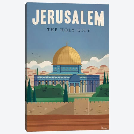 Jerusalem Canvas Print #IDS17} by IdeaStorm Studios Canvas Wall Art